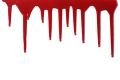 Clotted blood. On white background Stock Photography