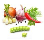 Clou de girofle d'ail, oignon, poivron rouge et épices Photos libres de droits