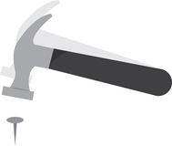 Clou de marteau illustration stock