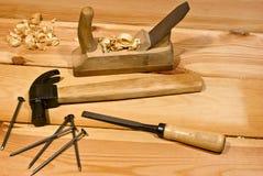 Clou et marteau Photos libres de droits