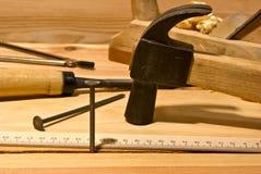 Clou et marteau Image libre de droits