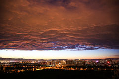 Cloud;The dark clouds:Heart;scenery;nightscape;Summer;Dusk;china; Stock Photos