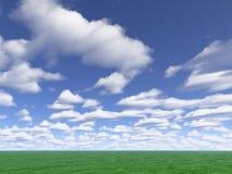 cloud łąkę Zdjęcia Royalty Free