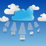 Cloud �omputing �oncept. Stock Photography