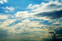 Cloud. In the blue sky on summer day Royalty Free Stock Photography