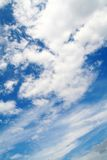 Cloud. In the blue sky on summer day Stock Image