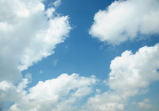 Cloud. White cloud, blue sky, just after a rain stock photography