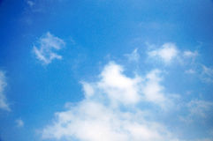 Cloud. White cloud, blue sky, just after a rain royalty free stock photo
