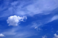 CLOUD. Blue sky with a white cloud like ball Royalty Free Stock Photo