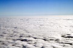 Cloud. View from a Plane on the cloud Royalty Free Stock Photos