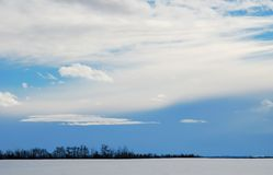 Cloud. S over blue sky, natural background Stock Photos
