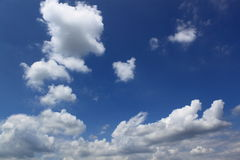 Cloud. In V shape on blue sky Stock Photography