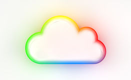 Cloud. Storage icon, 3D image Royalty Free Stock Photography