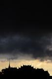 Cloud. Dark cloud on top of bangkok city Stock Images