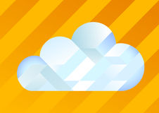 Cloud. Made of Gradient Interlocking Shapes Illustration Royalty Free Stock Photos