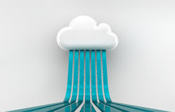Cloud. Storage icon, 3D image,  rain icon Stock Image