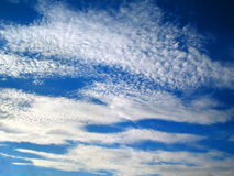Cloud. White cloud on turn blue sky Royalty Free Stock Images