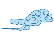 Cloud. Chinese painting style of a cloud stock illustration