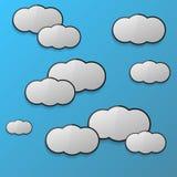 Cloud2 Ilustração do Vetor