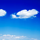 Cloud. Blue sky and fluffy cloud Royalty Free Stock Photography