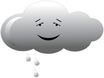 Cloud. Vector illustration of grey rain cloud isolated Stock Photo