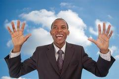 Cloud 9 Businessman Royalty Free Stock Photo