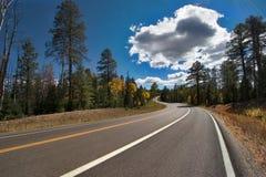 Cloud above highway. Stock Photos