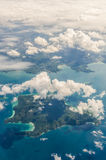 Cloud above island and sea Royalty Free Stock Images
