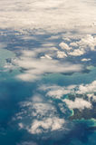 Cloud above island and sea from top view Stock Photos
