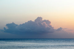 Cloud above ocean Stock Images