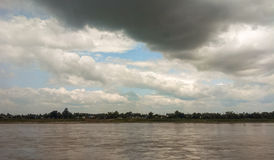 Cloud above river Stock Photography