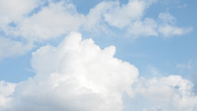 Cloud abstract nature form look like man sleeping Royalty Free Stock Photo