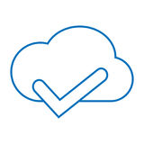 Cloud accept storage. Simple thin line cloud accept storage icon Stock Photos