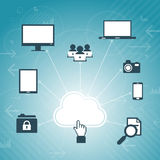 Cloud Access Network Royalty Free Stock Photography
