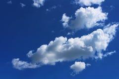 Cloud Against The Blue Sky Stock Photos