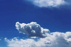 Cloud Against The Blue Sky Stock Image