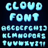 Cloud alphabet for design Royalty Free Stock Photos