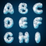 Cloud alphabet for design Stock Photos