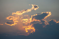 Cloud. Amazing cloud and Sun Rays Royalty Free Stock Photos
