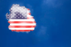 Cloud of American Royalty Free Stock Photography