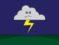 Cloud Angry Lightning Stock Image