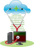 Cloud anti-virus concept Stock Images