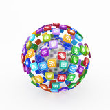 Cloud of application icons Stock Photos