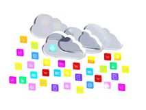 Cloud of application icons Stock Image