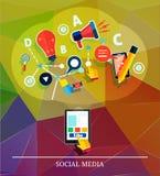 Cloud of application icons. Social media Stock Photos