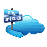 Cloud application road sign illustration design Royalty Free Stock Photo