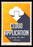 Cloud Application on Yellow in Flat Design. Stock Photography