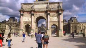 Cloud arch  Paris. Cloud arch people sky Paris France Stock Photography