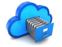 Cloud archive. 3d illustration of cloud documents storage concept Stock Images