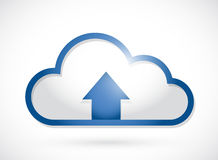 Cloud and arrow illustration design Royalty Free Stock Photography